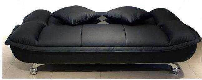 DELUXE 3 seater sofa beds in leather