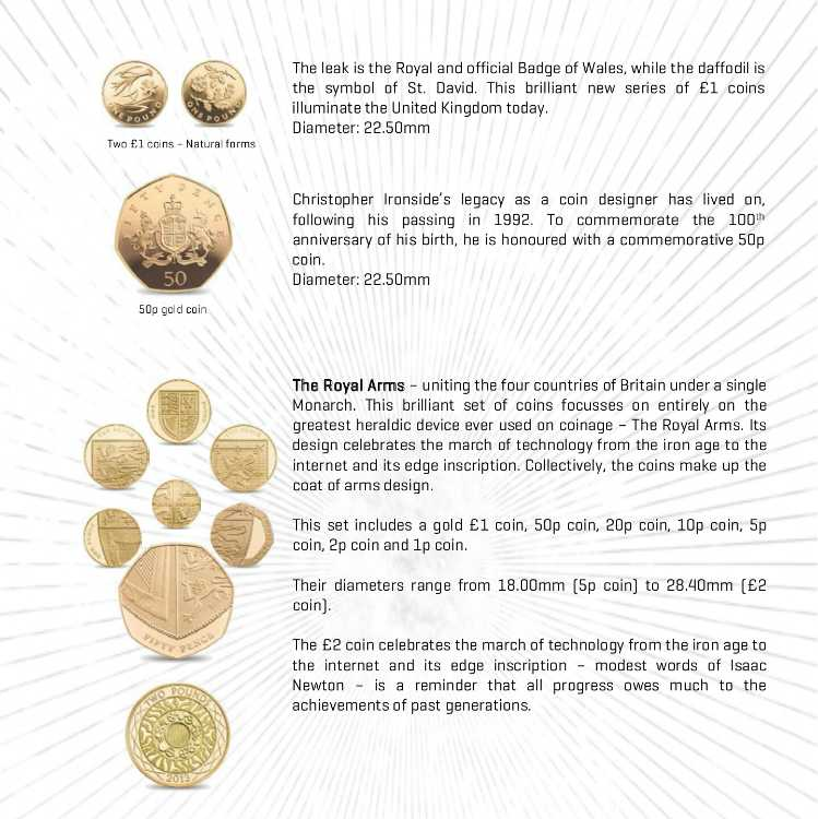 British 2013 15 Coin Gold Proof Set