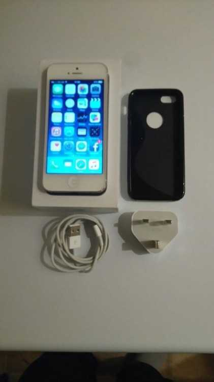 16GB WHITE & SILVER IPHONE 5