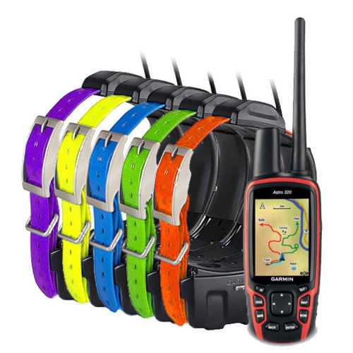 Garmin Astro 320 Handheld with 5 DC50 Collars