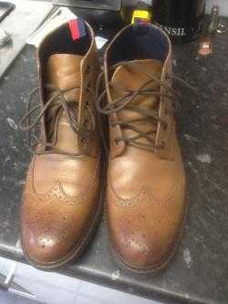 Tan coloured brogue chukka boots. Worn only once.