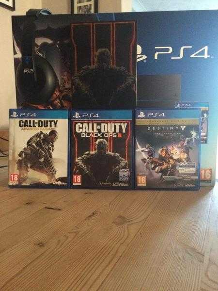 PS4 Console + 3 Games & Headset