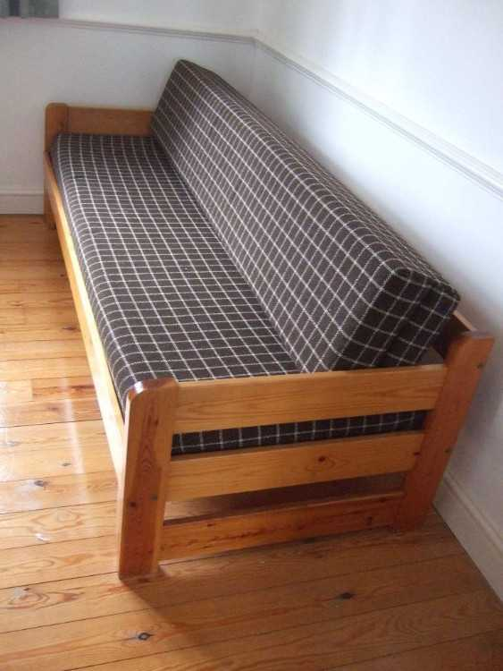 Sofa bed, Pine frame with comfortable mattress