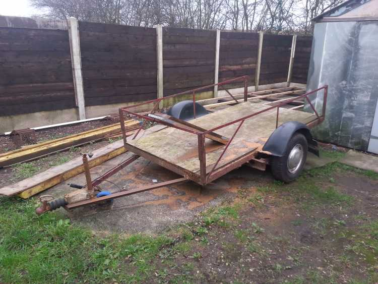 8x4 single axle braked car trailer
