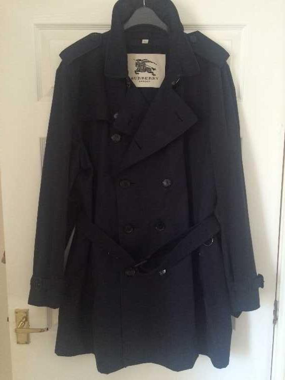 Men's Burberry Genuine Navy Blue Trench Coat