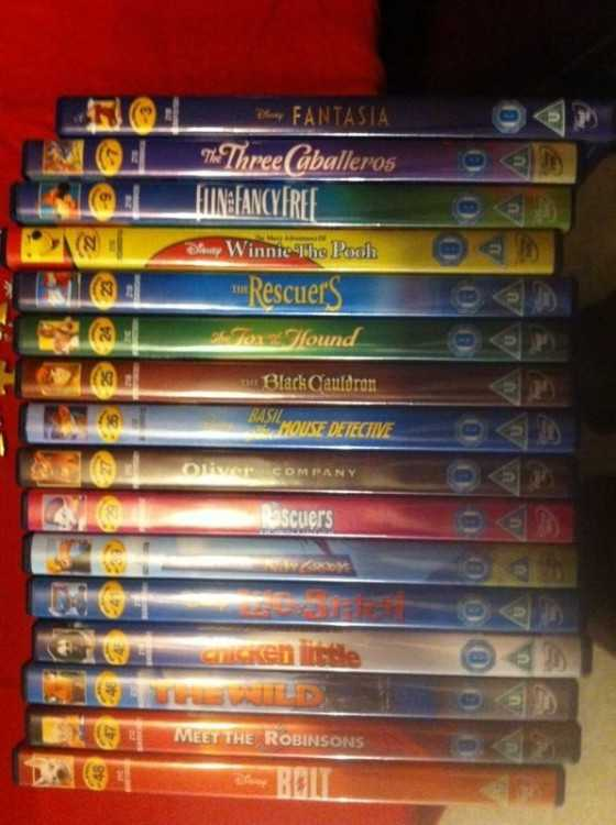 Rare disney golden oval numbered dvds