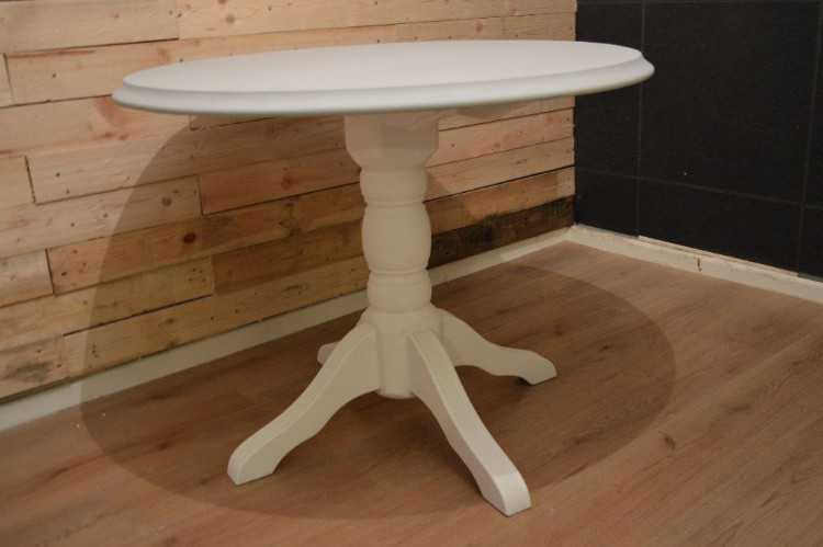 Shabby Chic Solid Wood Round Table with Top Grey