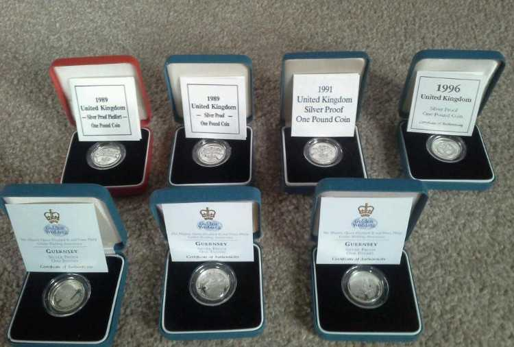 Silver Proof £ 1 Coins