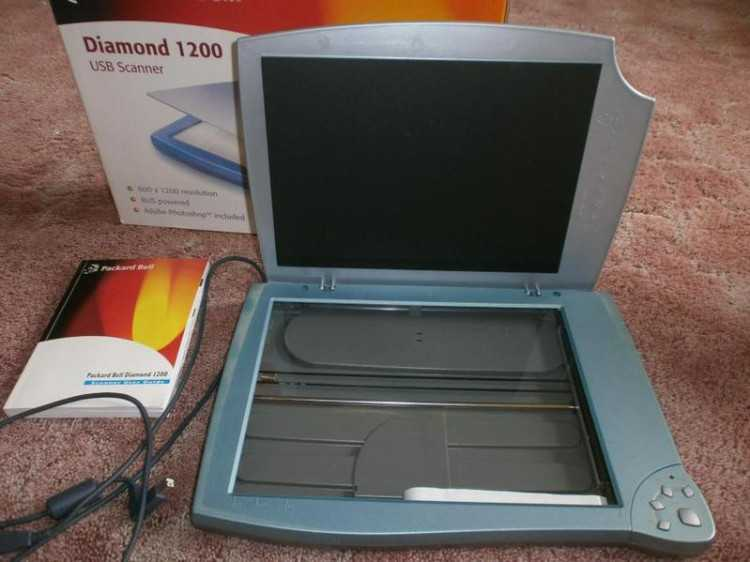 packard bell diamond 1200 scanner