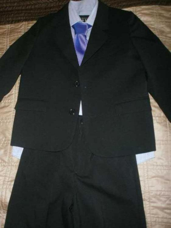 boys THOMAS NASH debenhams black suit age 7