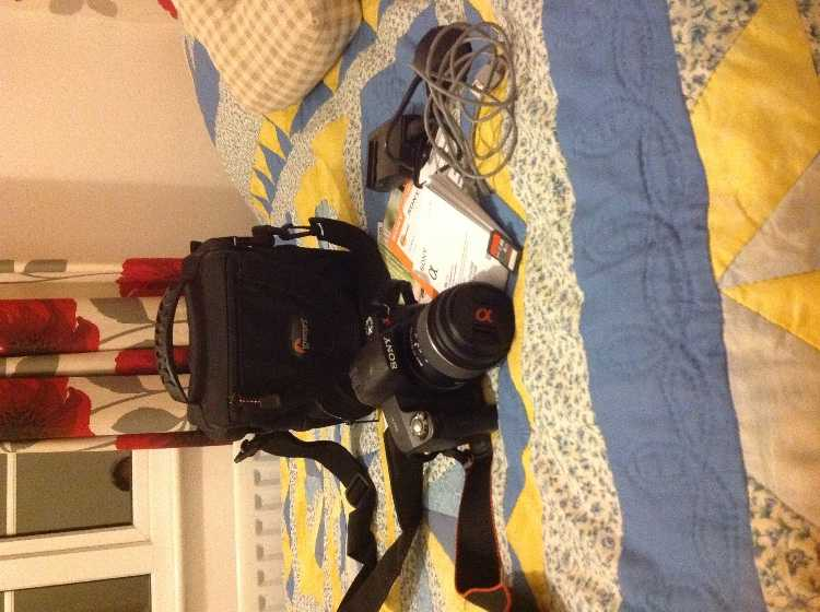 Sony A290 DSLR camera and accessory bundle