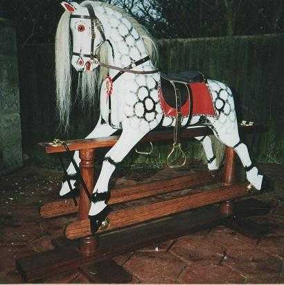 Large Dapple Grey Rocking Horse