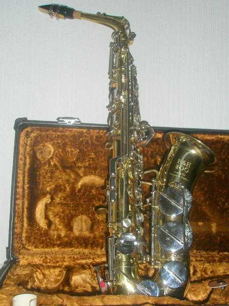 Superb Boozey and Hawkes 400 alto saxophone