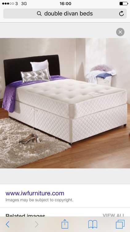 Brand new Double bed with Orthopedic mattress 10""
