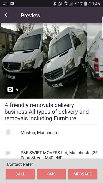 A small friendly removals & delivery business