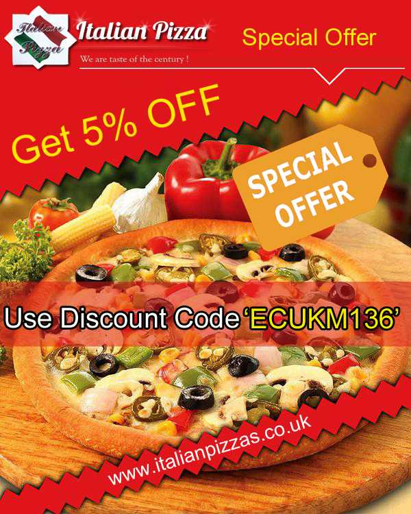 Italian Pizza Crawley Offers 5% Discount